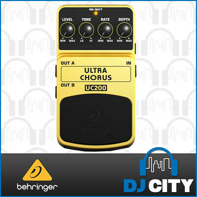 Behringer Ultra Chorus UC200 Ultimate Stereo Chorus Effects Pedal *New*