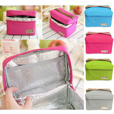 Portable Thermal Insulated Lunch Box Tote Cooler Bag Bento Picnic Pouch Storage