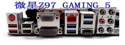 MSI I/O IO Shield backplate for MSI Z97-Gaming 5 MOTHERBOARD #G550 XH