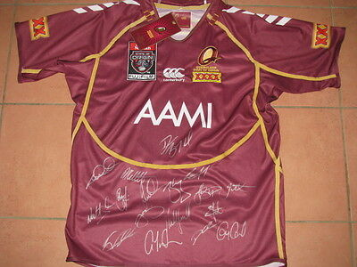 2012 Queensland State of Origin Team Hand Signed Jersey   Maroons