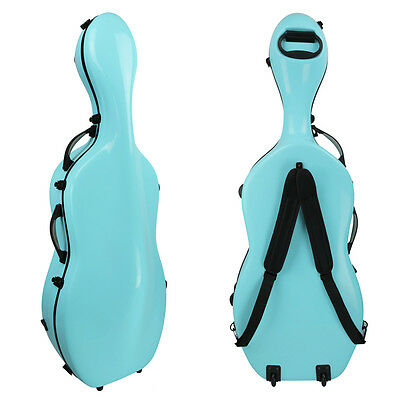Kreisler Slim Fibreglass Cello Case Aqua