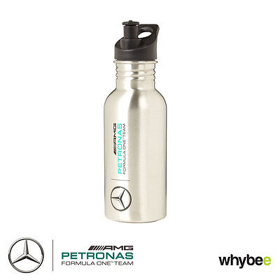 New! 2016 Mercedes-AMG F1 Formula One SILVER Sports Bottle Flask Stainless Steel