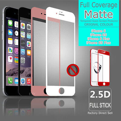 MATTE Full Coverage Tempered Glass Screen Protector For Apple iPhone X 7 8 Plus