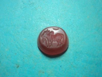 Antique Roman Cornelian Intaglio Cow Big Extremely Rare Xf++ 2Nd River Found !!