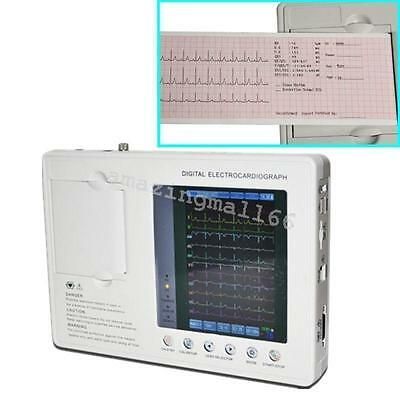 Cardiograph Digital 3-channel 12-lead Electrocardiograph ECG EKG Machine+printer