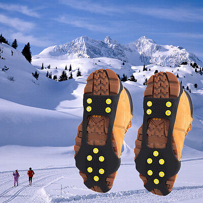 10 Studs Ice Snow Climbing Walking Non-slip Shoe Covers Spike Grips Crampons GT