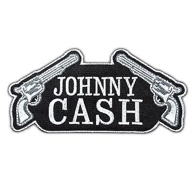 Johnny Cash Singer Rock Music Embroidered Iron On Patch Applique Songwriter Logo