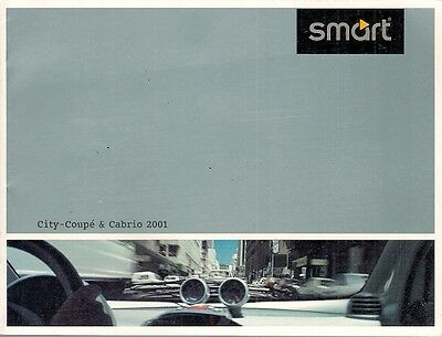 Smart ForTwo City Coupe & Cabriolet 2001 German Market Small Format Brochure