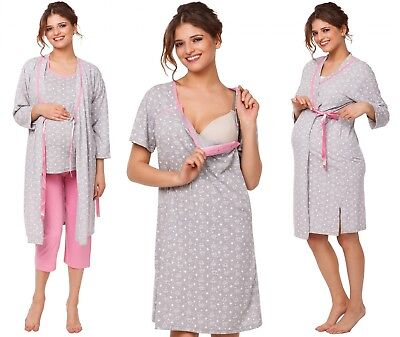 Happy Mama. Women's Maternity Tulip Nightie / Pyjama /Robe SOLD SEPARATELY. 980p