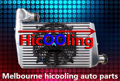 Aluminum INTERCOOLER & Fan FOR FORD FALCON BA BF XR6 TURBO WITH MOUNTING KITS