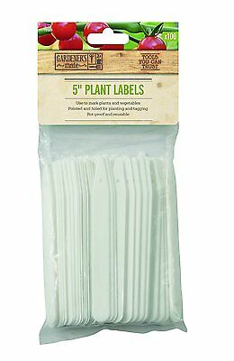 "Gardeners Mate 5"" Plant Labels x 100"