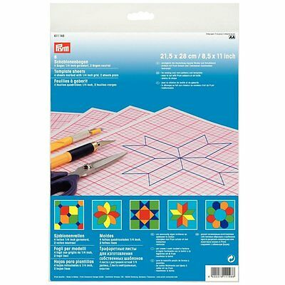Prym Template Sheets mixed pack grid/plain 6 pack 21.5cm x28cm patterns