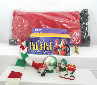 "New Medium (5-12 Lbs) Personal  ""Pet Carrier""  by Pak-A-Pal Santa Claus Red"