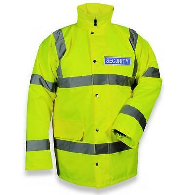 Protec Quilted Yellow Highvis Class 3  Waterproof Security Jacket