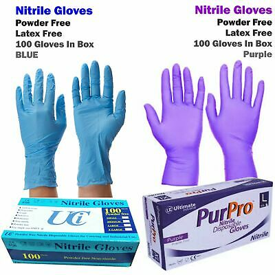 Nitrile Vinyl Latex Disposable Gloves Surgical Medical Tattoo Blue Mechanic