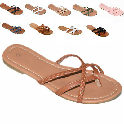 Womens Basic Summer Thong Sandal Strappy Cute Style size 6-11