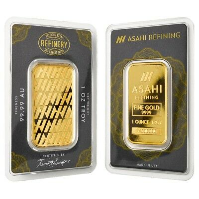 1 oz Asahi Gold Bar .9999 Fine (In Assay)