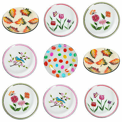 Village Candle 16cm Hand Painted Candle Plates - Various Designs