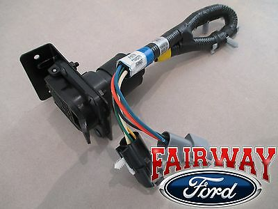 96 \u0026 97 f 250 f 350 super duty oem ford trailer tow wire harness w plug 7 pin Ford Super Duty Trailer Plug Wiring