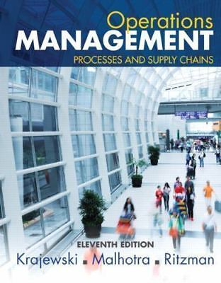 Operations Management: Processes Supply Chains 11th Int'l Edition