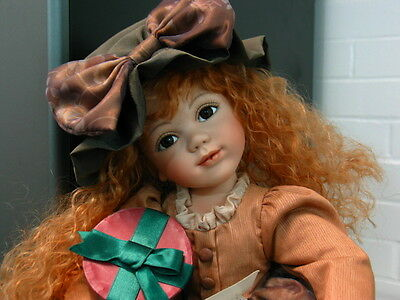 Geppeddo Collector Series Bisque Porcelain Doll, Rachel with original tags