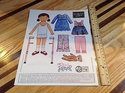 1 Sheet Paper Doll & Clothes Friends Forever Matilda Jane Collection Mjc Dolls