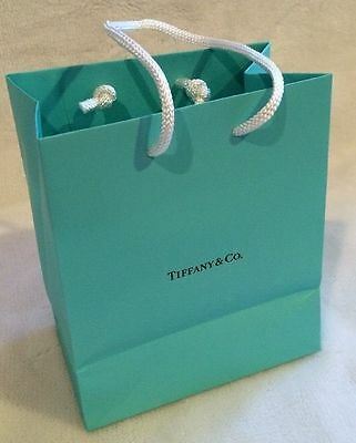 """One Tiffany & Co Gift Bag - Size Small 6"""" H x 5"""" W X 3"""" D"""