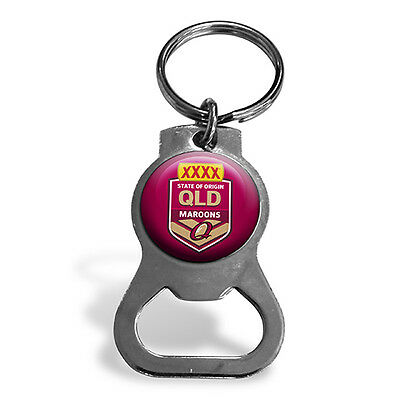 XXXX State of Origin QLD Queensland Maroons Bottle Opener Key Ring Man Cave