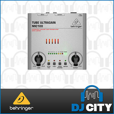 Behringer Ultragain MIC100 Microphone Preamplifier & Limiter - Mic Preamp