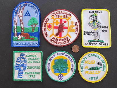 Chateauguay Niagara District Comox Valley etc 6 Canada Scout Badges