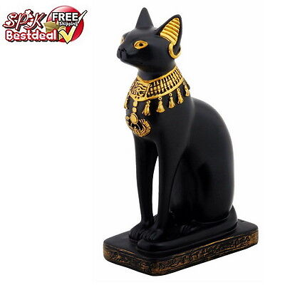 Ancient Bastet Egyptian Feline Goddess Figurine Egypt Cat Statue Sculpture Gift