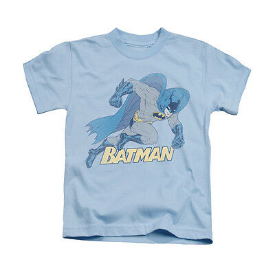 BATMAN RUNNING RETRO Licensed Boys Graphic Tee Shirt 2T 3T 4T 4 5-6 7