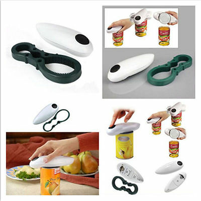 One Touch Automatic Electric Can Tin Bottle Opener No Hand Battery Operated