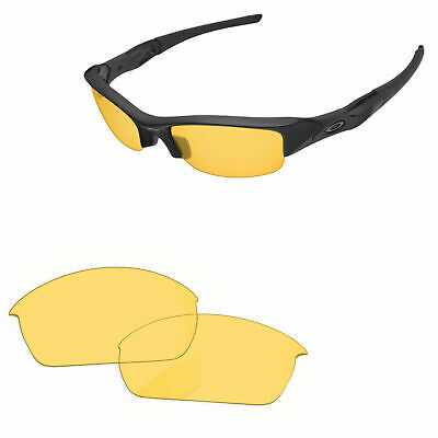 315a3018731 PapaViva Crystal Yellow Replacement Lenses for-Oakley Flak Jacket Sunglasses
