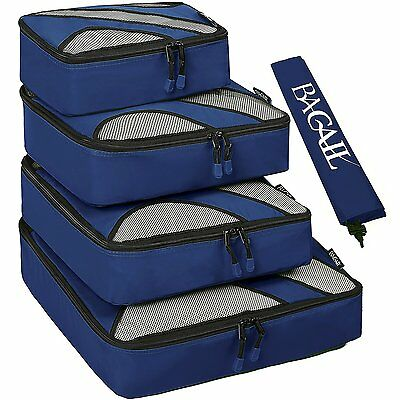 5 Pcs Travel Packing Cubes Luggage Organizer Closet Planner Bag Waterproof