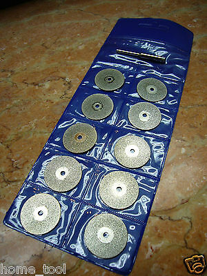 10 pieces 40mm THK Diamond coated rotary cut off cutting wheel blades blade disc