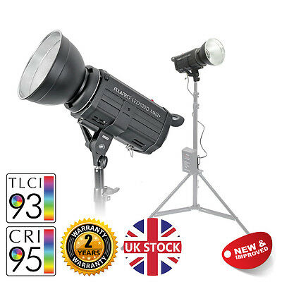 LED100D MKII+ Studio Light with V-Mount Battery Plate Video Interview Lighting