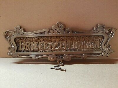 Briefschlitz Briefklappe Brief Einwurf Mailbox Slot Letter Flap Messing L1A