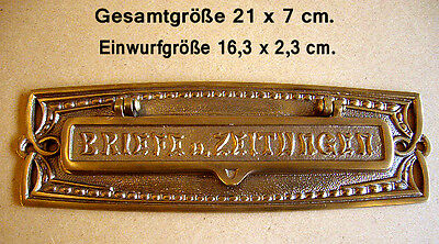 Briefschlitz Briefeinwurf Briefklappe Mailbox Slot Letter Flap Messing L2A