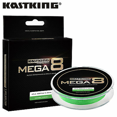 KastKing Mega 8 Strands 274M Green/Black Braided Fishing Line Saltwater Fishing