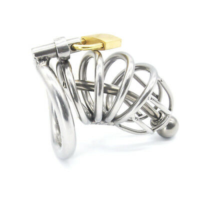 New High quality Male Chastity Device Bird Lock Stainless Steel Cage A225-2