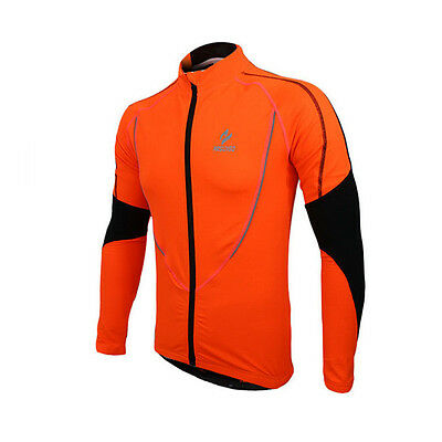 Mens Cycling Jacket Thermal Winter Long Sleeve Jersey Running Wind Coat