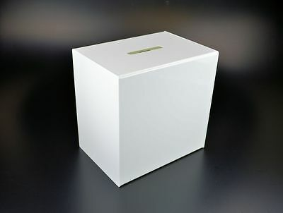 Lockable White Ballot / Comments / Charity / Collection / Suggestion Box BB0020
