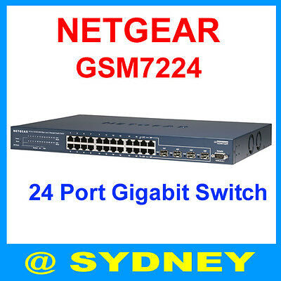 Netgear 24 Port Gigabit Switch GSM7224 Full Layer 2 Managed Network Switch