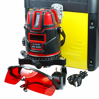 New Self Leveling Precision Laser Level Kit With Tripod Shockproof 5-Line