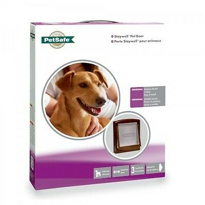 Staywell Dog Doors & Cat Flaps Small 730 Medium 755 Large 775 White Or Brown