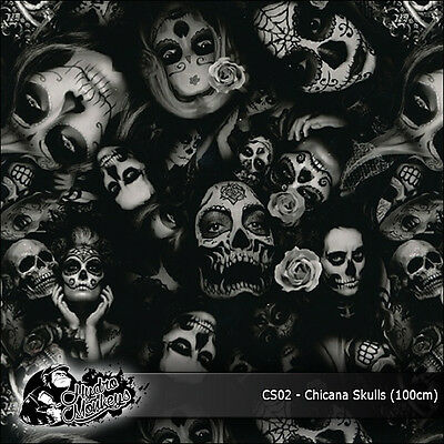 1m of Chicana Skulls (CS02) 100cm hydrographics water transfer film