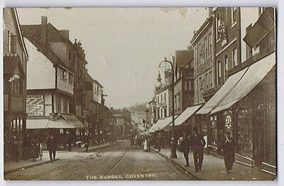 COVENTRY The Burges, RP Postcard Postally Used 1918