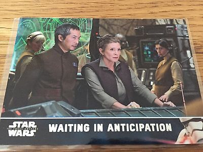 TOPPS Star Wars The Force Awakens Series 2,Leia Waiting in Anticipation 1/1
