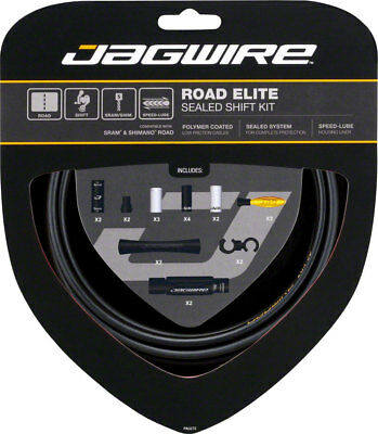 NEW Jagwire Road Elite Sealed Shift Cable Kit Frozen Black